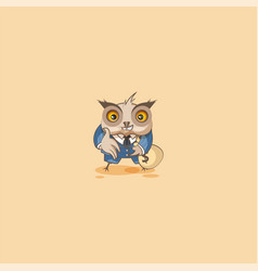 Owl in business suit extend hand to offer deal vector