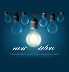 realistic lightbulb background vector image