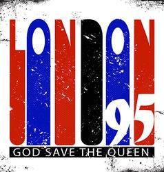 Retro London logo vector image
