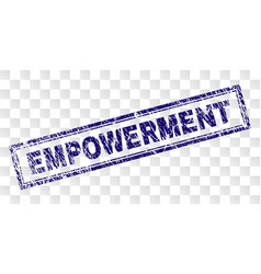 Scratched empowerment rectangle stamp vector