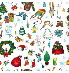 seamless pattern for christmas cards design vector image