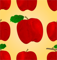 Seamless texture red apple fruit healthy lifestyle vector