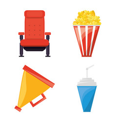Set cinema and short film studio tools vector