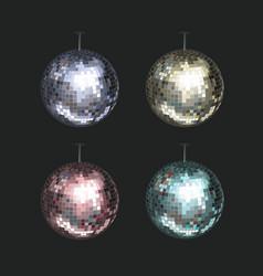 Set disco balls vector
