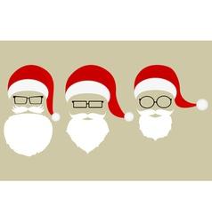Set of patterns of Santa Claus vector image