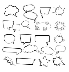 Set of the speech bubbles on white background vector image