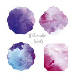 Set watercolor forms vector