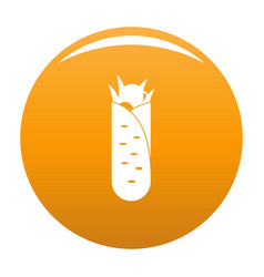 shawarma icon orange vector image