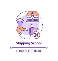 Skipping school concept icon vector