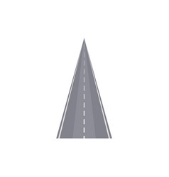 Smooth highway with markings element vector