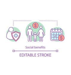 Social benefits concept icon vector