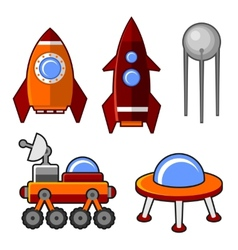 Spaceships Icons Set vector image