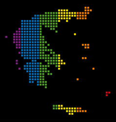 spectrum dotted lgbt greece map vector image