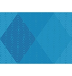Spiral pattern blue vector image