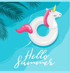 summer design template card vector image
