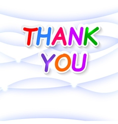 Thank plate on a blue background vector image