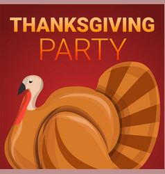 thanksgiving party concept banner cartoon style vector image