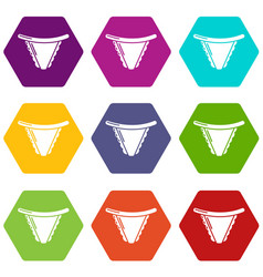 Underpants classic icons set 9 vector