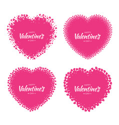 valentines day card design vector image