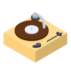 vinyl player icon isometric 3d style vector image