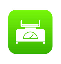 weight scale icon digital green vector image