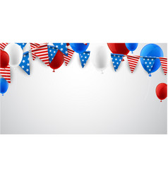 white american background with balloons vector image