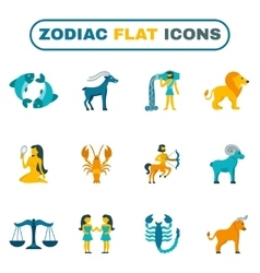 Zodiac Icon Flat vector
