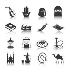 Arabic culture icon vector