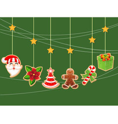 Christmas holiday dresses collection of icons 1 vector image vector image
