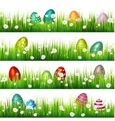 easter egg on the green grass seasonal holidays vector image