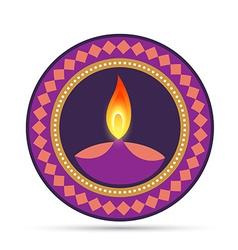 hindu diwali festival vector image vector image
