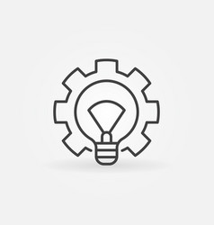 light bulb with gear icon vector image vector image
