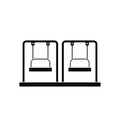 Playground swing black simple icon vector image
