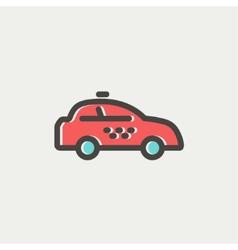 Police car thin line icon vector image