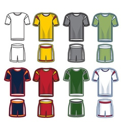 Set of soccer uniform vector image