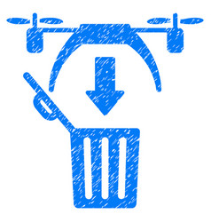 trash drone grunge icon vector image vector image