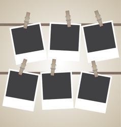 vintage photo frame design element vector image