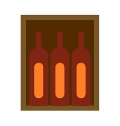 Wine box vector image vector image