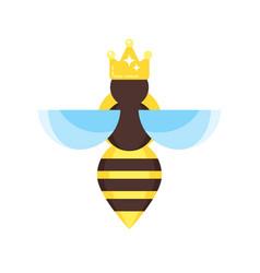 flat style of queen bee vector image