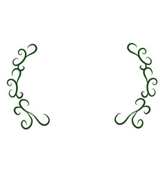 green plant branches decoration vector image