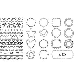 hand drawn decorative brushes vector image vector image
