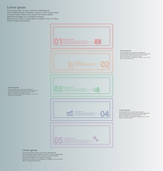 Infographic with bar divided to five color parts vector image vector image