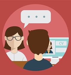 interview with the candidate positions job vector image