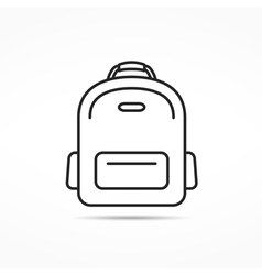 School Bag Line Icon vector image vector image