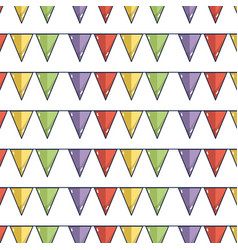 flags party to decoration design tradition vector image