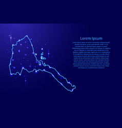 map eritrea from the contours network blue vector image vector image