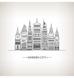 Modern Big City vector image vector image