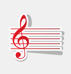 music violin clef sign g-clef new year vector image