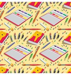 school belongings vector image