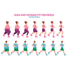 fitness stages composition vector image vector image